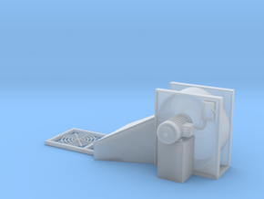1/64 Centrifugal Fan Seperate Grill  in Smooth Fine Detail Plastic