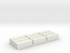 1/64 Concrete Push Blocks in White Natural Versatile Plastic