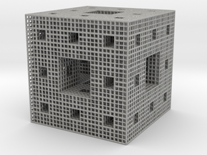Menger_tubed_Level 2 in Aluminum