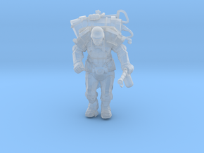 Mutant with Flamethrower  in Smooth Fine Detail Plastic