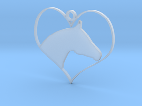 Horse Heart in Smooth Fine Detail Plastic