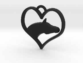 Arabian Horse Heart in Black Natural Versatile Plastic