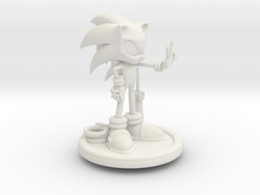 Sonic in White Natural Versatile Plastic