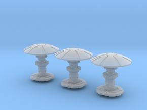 Security Orbitals (3) in Smooth Fine Detail Plastic