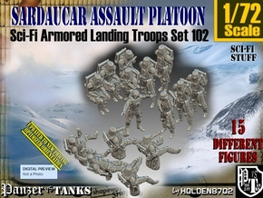 1/72 Sci-Fi Sardaucar Platoon Set 102 in Smooth Fine Detail Plastic