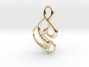 Seed of magic in 14k Gold Plated Brass