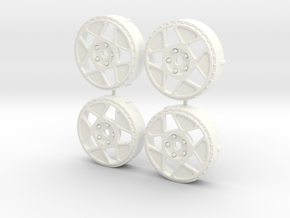 MST / Fifteen52 Tarmac R43 Insert (x4) in White Processed Versatile Plastic
