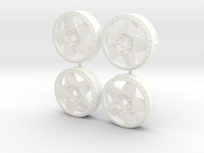 MST / Fifteen52 Tarmac 348 Insert (x4) in White Processed Versatile Plastic