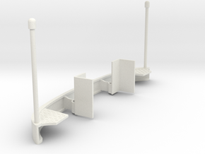 bumper-on-chassis in White Natural Versatile Plastic