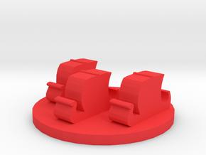 Game Piece, Viking Fleet Token in Red Processed Versatile Plastic
