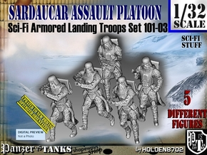 1/32 Sci-Fi Sardaucar Platoon Set 101-03 in Smooth Fine Detail Plastic