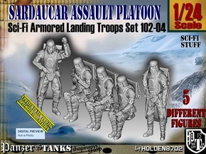 1/24 Sci-Fi Sardaucar Platoon Set 102-04 in White Strong & Flexible