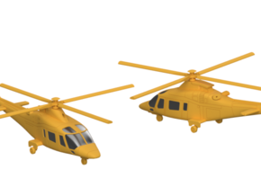 011B Agusta A109 Pair 1/144 in Smooth Fine Detail Plastic