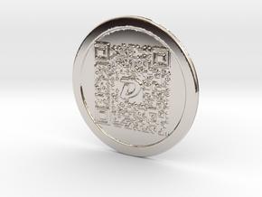 DigiByte Metal Wallet in Platinum