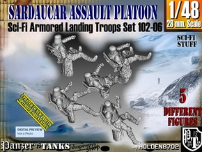 1/48 Sci-Fi Sardaucar Platoon Set 102-06 in Smooth Fine Detail Plastic
