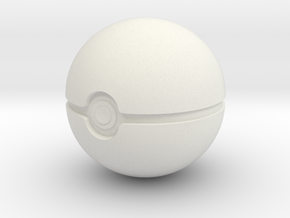 Pokeball  in White Premium Versatile Plastic