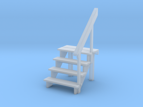 S scale 4 step stair & railing in Smoothest Fine Detail Plastic