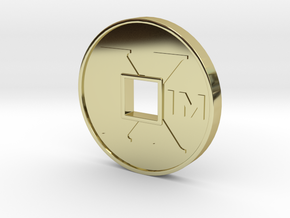 XIM Coin in 18k Gold Plated Brass