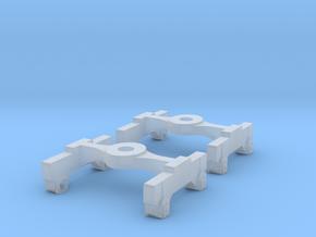 RAR bogie 012 complete 2x in Smooth Fine Detail Plastic: 1:43.5