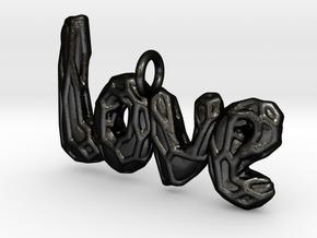 Love pendant in Matte Black Steel