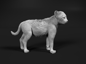 Cheetah 1:1 Standing Cub in White Natural Versatile Plastic