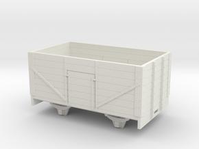 1:32/1:35 7 plank open wagon in White Natural Versatile Plastic