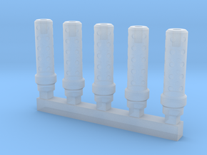 Bolt Rifle Suppressors Dimple v1 x5 in Smoothest Fine Detail Plastic
