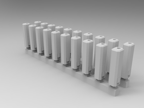 Bolt Rifle Suppressors Angular v1 x20 in Smoothest Fine Detail Plastic