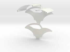 Basher Rocksta 2mm Spider Chassis V1 in White Natural Versatile Plastic
