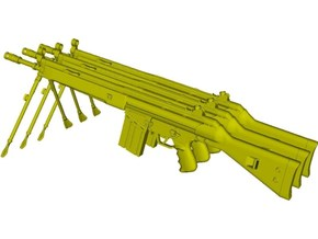 1/10 scale Heckler & Koch G-3A3 rifles B x 3 in Smooth Fine Detail Plastic