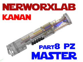 NWL Kanan - Master Part8-PZ Lightsaber Chassis in White Natural Versatile Plastic