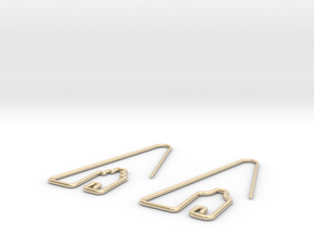 Amsterdam Canal Houses Earrings in 14k Gold Plated Brass