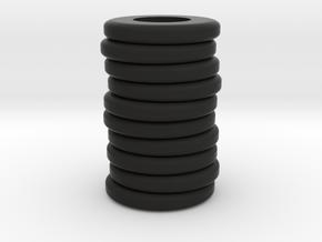 Tire Stack 1940's in Black Natural Versatile Plastic: 1:64 - S