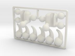 Creature Talon Set for ModiBot in White Natural Versatile Plastic