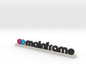 Mainframe Logo White in Full Color Sandstone