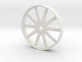 Steam Era Flywheel - 46mm in White Natural Versatile Plastic