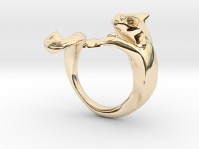 Wiskers GATO in 14K Yellow Gold: 8 / 56.75