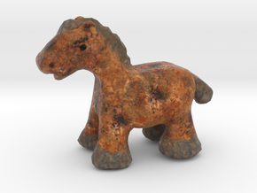 Antique-Style Pony Figurine in Full Color Sandstone