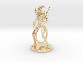Xenomorph Miniature in 14K Yellow Gold: 1:60.96