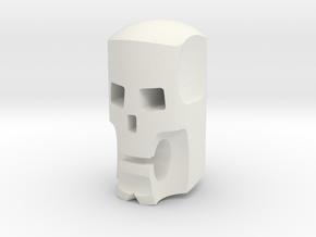 Stylized skull head for ModiBot in White Natural Versatile Plastic
