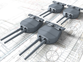 "1/200 HMS Hood 15"" (38.1 cm) Mark II Turrets 1920 in Smooth Fine Detail Plastic"