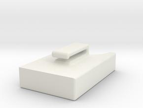 E5573 Belt pouch in White Natural Versatile Plastic
