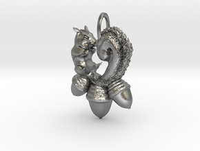 Squirrel in Natural Silver