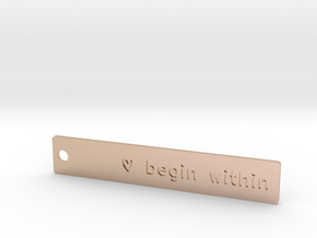 Custom keychain tag in 14k Rose Gold Plated Brass
