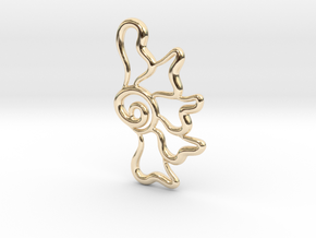 Flower ghost in 14k Gold Plated Brass