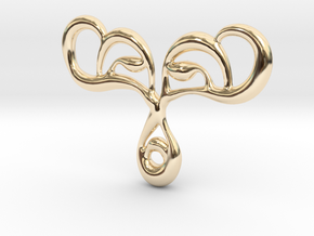 Drop of life in 14K Yellow Gold