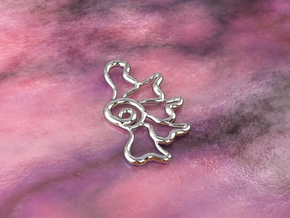 Flower ghost in Polished Silver