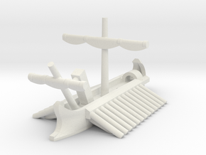 1/1200 Roman Corvus Trireme in White Strong & Flexible: Extra Small