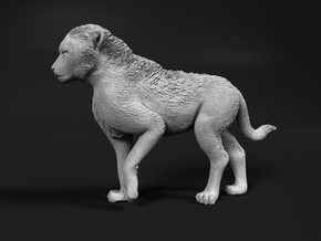 Cheetah 1:16 Walking Cub in White Natural Versatile Plastic