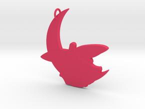 Fairy Resting on Moon in Pink Processed Versatile Plastic